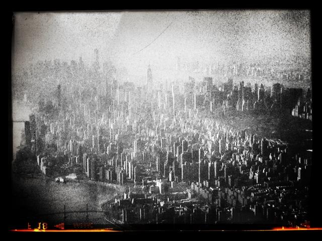 Manhattan Island with snapseed work.
